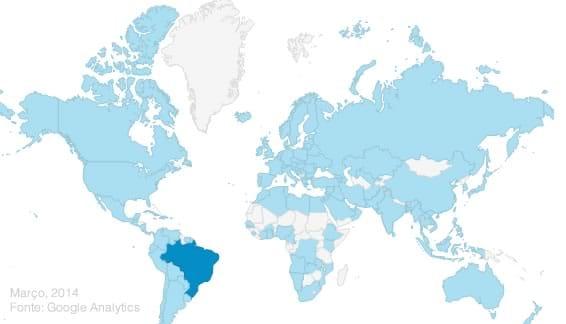 Anuncie no VisiteFoz: Distribuição dos acessos desde 2008