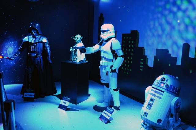 Star Wars characters in Dreamland Wax Museum