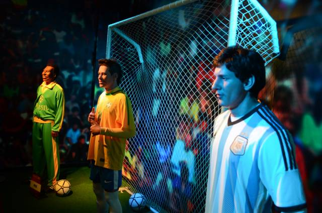 Football personalities in Dreamland Wax Museum